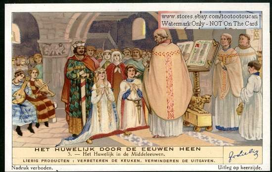 Details about A Middle Ages Wedding Ceremony 1930s Card
